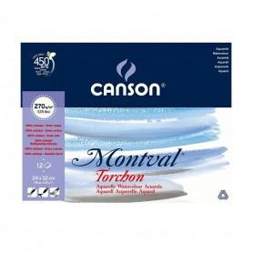 copy of Canson Montval blocco acquerello a grana grossa collato 1 lato,  270 g/qm, torchon 29,7 x 42 cm - 12 fogli
