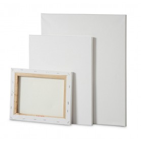 Telaio Standard 25x50- ttch - cotone 100% - grana media - telaio in abete 17x45