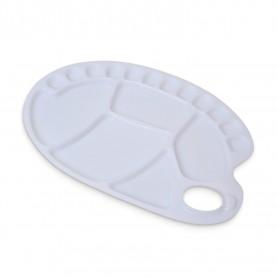 Tavolozza ovale per mano, materiale sintetico