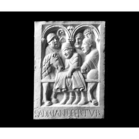 Il trasporto della salma di Sant'adriano III - Formella - 108b