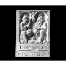 La sepoltura di Sant'adriano III - Formella - 109b